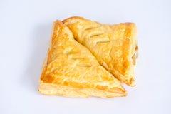 Яблочные пироги на белой предпосылке стоковые фото