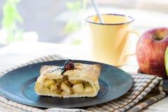 Яблочный пирог естественный Стоковое Изображение RF