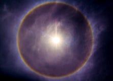 Явление гало Солнця Стоковые Изображения