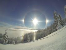 Явление погоды собаки Солнця Стоковые Фото