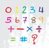 Ягнит алфавит нарисованный crayon Стоковые Фотографии RF