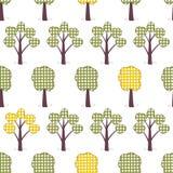 Ягнит безшовная картина, applique, деревья, экземпляр травы Стоковое Изображение