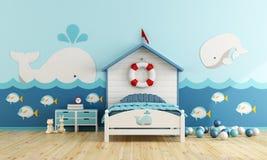 Ягнит комната в морском стиле иллюстрация штока