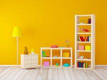 Ягнит комната с bookcases бесплатная иллюстрация