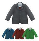 Ягнит куртка, рубашка и связывает пустой шаблон иллюстрация штока