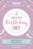 Ягнит приглашение дня рождения бесплатная иллюстрация