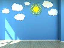 Ягнит сцена интерьера комнаты бесплатная иллюстрация