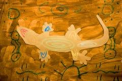 Ягнит художественное произведение гекконовых Стоковое Изображение RF