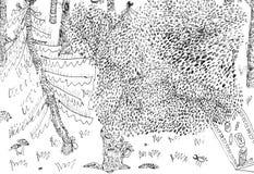 Ягнит чертеж карандаша стоковое фото rf