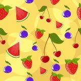 ягоды предпосылки безшовные Стоковое фото RF