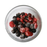 ягоды придают форму чашки замороженное Стоковая Фотография RF