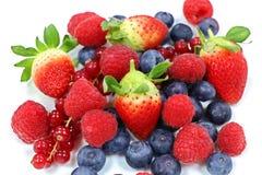 ягоды смешивания свежие с белой предпосылкой стоковое изображение