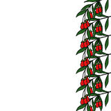 Ягода Goji в цвете, границе бесплатная иллюстрация