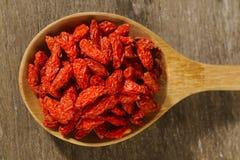 ягоды высушили красный цвет goji Стоковая Фотография RF