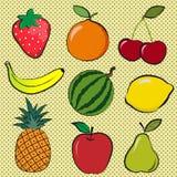 Ягоды и плодоовощи Стоковое Изображение