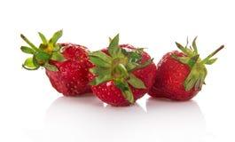 3 ягоды клубники Стоковое фото RF