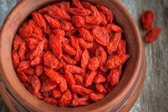 ягоды bowl высушенное goji Стоковые Фотографии RF
