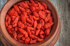 ягоды bowl высушенное goji Стоковые Изображения RF