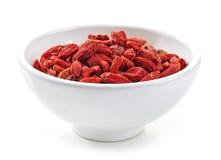 ягоды bowl высушенное goji Стоковое Изображение RF
