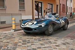 Ягуар D типа 1956in Mille Miglia 2017 Стоковые Фото