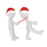 лягушка человека 3d маршируя друг с тросточкой конфеты Стоковое Фото