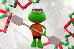 лягушка 3d сплавляя иллюстрацию Стоковая Фотография