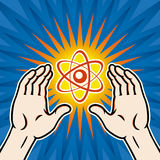 ядерная держава принципиальной схемы Иллюстрация штока