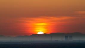 ядерная сила завода philippsburg панорамы Стоковое Изображение RF