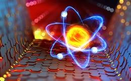 Ядерный реактор Эксперименты с коллайдером адрона Исследование структуры атома бесплатная иллюстрация