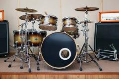 Ядровая комната студии с набором барабанчика Стоковые Изображения RF