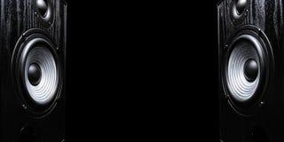 2 ядровых диктора с открытым космосом Стоковое фото RF