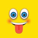 Языка emoji вне иллюстрация вектора