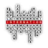 языки кроссворда иллюстрация вектора