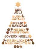Языки с Рождеством Христовым рождественской елки различные бесплатная иллюстрация