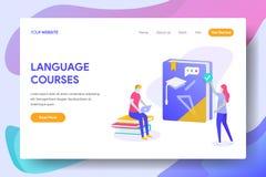 Языковые курсы бесплатная иллюстрация