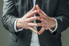 Язык жестов выражая управление Стоковое Фото
