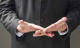 Язык жестов политика в крупном плане Стоковые Фотографии RF
