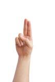 Язык жестов руки Стоковые Изображения