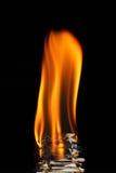 язык пламени Стоковые Изображения