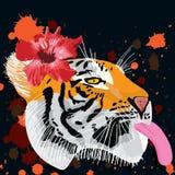 Язык тигра Стоковая Фотография RF