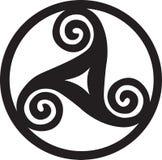Языческий символ - Triskelion Стоковое Фото