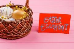 яичек пасхального яйца мальчика предпосылки hunt зеленого цвета травы милых свежий спрятанный изолировал искать белизну Стоковое Изображение