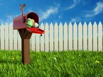 Яичка в почтовом ящике стоковая фотография