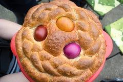 Яичка в хлебе Стоковые Фотографии RF