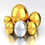 Яичка золота Стоковое Фото