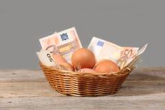 Яичка и деньги Стоковое фото RF