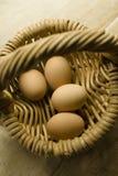 яичка корзины Стоковое Изображение RF