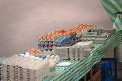 Яичка на рынке Стоковое Изображение