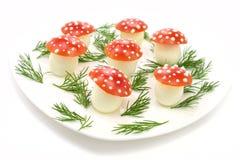 яичка сделали грибами томаты Стоковая Фотография RF