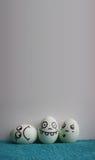 Яичка с фото сторон для вашего дизайна Стоковое Изображение
